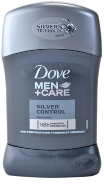 Dove Men+Care Silver Control antitranspirante en barra 48h