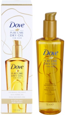 Dove Advanced Hair Series Pure Care Dry Oil óleo nutritivo  para cabelo 1