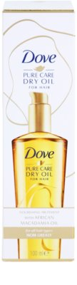 Dove Advanced Hair Series Pure Care Dry Oil óleo nutritivo  para cabelo 2