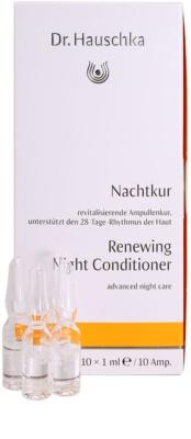 Dr. Hauschka Facial Care cuidado de noite renovador em ampolas