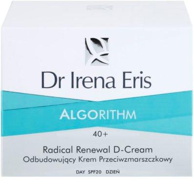Dr Irena Eris AlgoRithm 40+ obnovující krém proti vráskám SPF 20 3