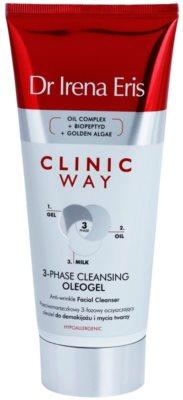 Dr Irena Eris Clinic Way Drei-Phasen-Oleogel gegen Falten zum Abschminken und Reinigen des Gesichts