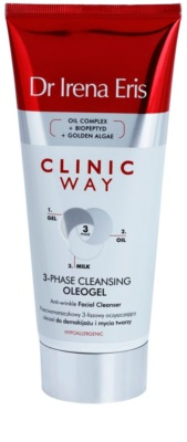 Dr Irena Eris Clinic Way třífázový čisticí oleogel proti vráskám na odličování a mytí obličeje