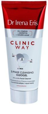 Dr Irena Eris Clinic Way трифазний очищуючий олеогель проти зморшок для зняття макіяжу