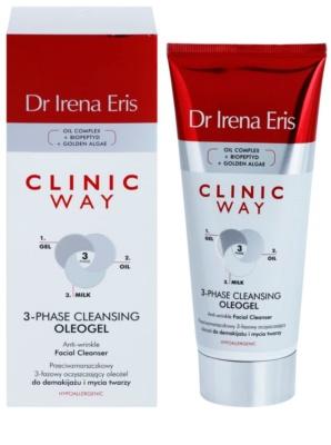 Dr Irena Eris Clinic Way трифазний очищуючий олеогель проти зморшок для зняття макіяжу 1