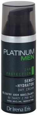 Dr Irena Eris Platinum Men 24 h Protection creme de dia protetor e hidratante para rosto e contorno dos olhos