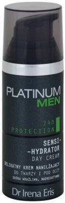 Dr Irena Eris Platinum Men 24 h Protection denní hydratační a ochranný krém na obličej a oční okolí