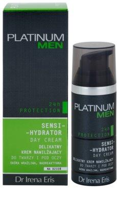 Dr Irena Eris Platinum Men 24 h Protection denný hydratačný a ochranný krém na tvár a očné okolie 2