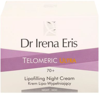 Dr Irena Eris Telomeric Ultra 70+ Nachtcremem zur Wiederherstellung der Hautdichte 3