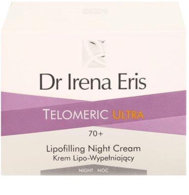 Dr Irena Eris Telomeric Ultra 70+ creme de noite renovador densidade de pele 3