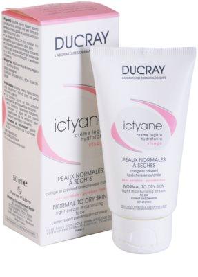 Ducray Ictyane легкий зволожуючий крем для нормальної та сухої шкіри 1
