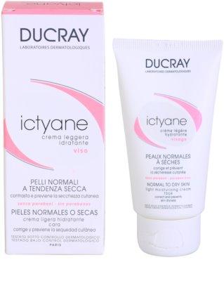 Ducray Ictyane легкий зволожуючий крем для нормальної та сухої шкіри 2