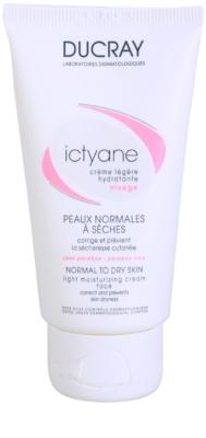 Ducray Ictyane легкий зволожуючий крем для нормальної та сухої шкіри