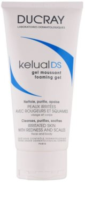 Ducray Kelual DS пінистий гель для делікатного миття подразненої шкіри для обличчя та тіла