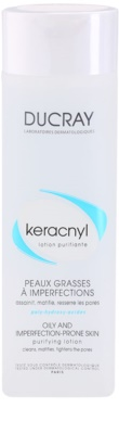 Ducray Keracnyl Lapte demachiant pentru tenul gras și problematic