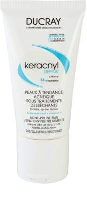Ducray Keracnyl creme hidratante e regenerador para pele desidratada e irritada por tratamento antiacneico