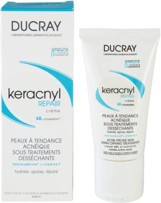Ducray Keracnyl crema regeneratoare si hidratanta pentru piele uscata si iritata in urma tratamentului antiacneic 1