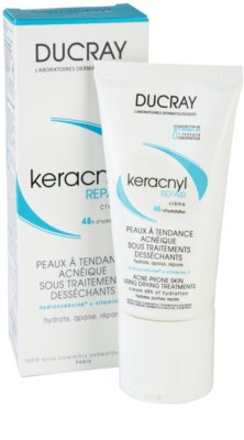 Ducray Keracnyl crema regeneratoare si hidratanta pentru piele uscata si iritata in urma tratamentului antiacneic 2