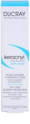 Ducray Keracnyl helyi ápolás a pattanásos bőr hibáira 3