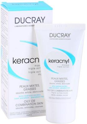 Ducray Keracnyl очищаюча маска для комбінованої та жирної шкіри 1