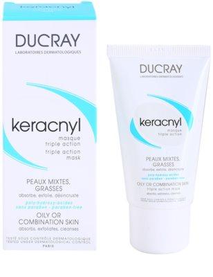 Ducray Keracnyl очищаюча маска для комбінованої та жирної шкіри 2