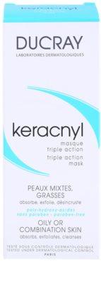 Ducray Keracnyl очищаюча маска для комбінованої та жирної шкіри 3