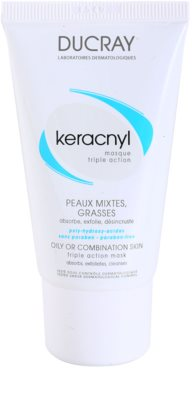 Ducray Keracnyl очищаюча маска для комбінованої та жирної шкіри