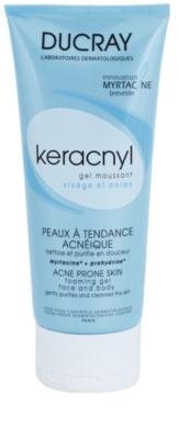 Ducray Keracnyl tisztító habzó gél az aknéra hajlamos zsíros bőrre