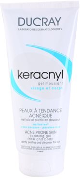 Ducray Keracnyl gel espumoso de limpeza para pele oleosa propensa a acne 1