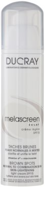 Ducray Melascreen crema de día ligera para eliminar manchas de pigmentación SPF 15