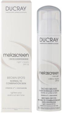 Ducray Melascreen crema de día ligera para eliminar manchas de pigmentación SPF 15 1