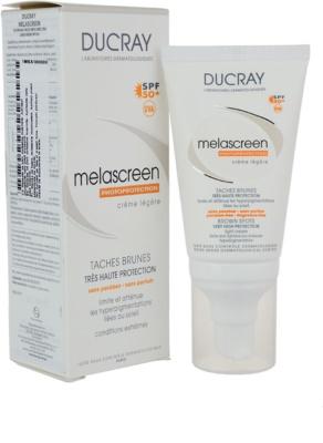 Ducray Melascreen lahka krema za sončenje proti pigmentnim madežem SPF 50+ 1
