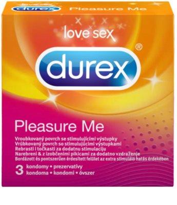 Durex Pleasure Me kondomy s vroubky a výstupky zvyšující stimulaci