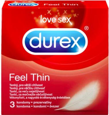 Durex Feel Thin тонкі презервативи для максимальної чутливості