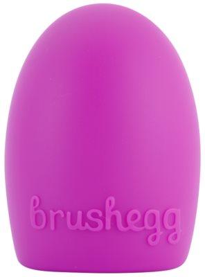 E style Brush Egg accesorio de silicona para limpiar brochas 1