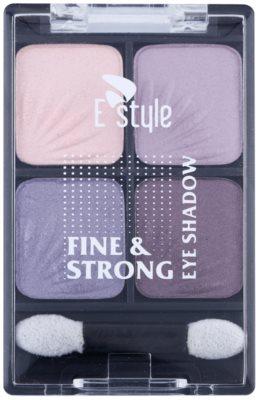 E style Fine & Strong Lidschatten mit einem  Applikator 1
