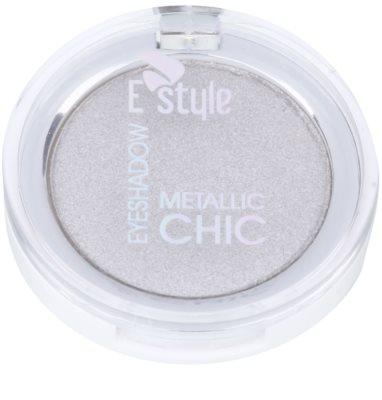 E style Metallic Chic тіні для повік з ефектом  металік 1