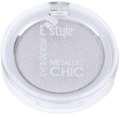 E style Metallic Chic sombras com tons metalizados 1