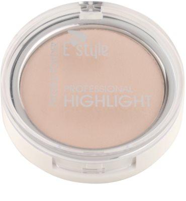 E style Professional Highlight Pudra compacta ce ofera luminozitate 1