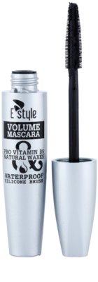 E style Volume Waterproof Mascara maskara za volumen in goste trepalnice