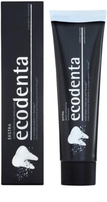 Ecodenta Extra čierna bieliaca zubná pasta 1