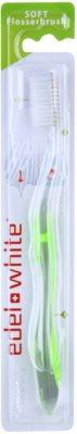 Edel+White Flosser Brush escova de dentes soft
