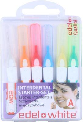 Edel+White Interdental Brushes periute de dinti interdentare 6 bucati amestec