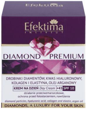 Efektima Institut Diamond Premium +45 crema  regeneradora antiarrugas SPF 10 3