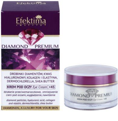Efektima Institut Diamond Premium +45 crema contur pentru ochi impotriva cearcanelor si ochilor umflati 2