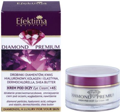 Efektima Institut Diamond Premium +45 oční protivráskový krém proti otokům a tmavým kruhům 2