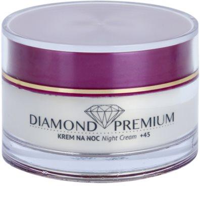 Efektima Institut Diamond Premium +45 crema de noche regeneradora  con efecto antiarrugas