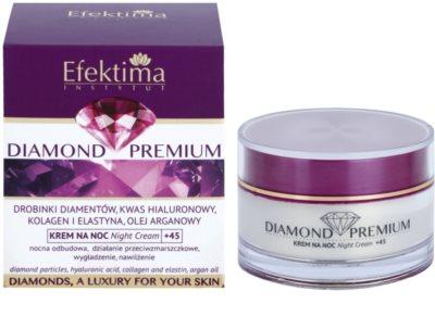 Efektima Institut Diamond Premium +45 нощен регенериращ крем с анти-бръчков ефект 2