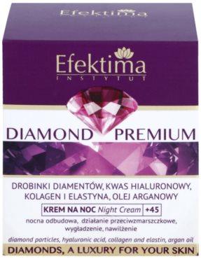 Efektima Institut Diamond Premium +45 нощен регенериращ крем с анти-бръчков ефект 3