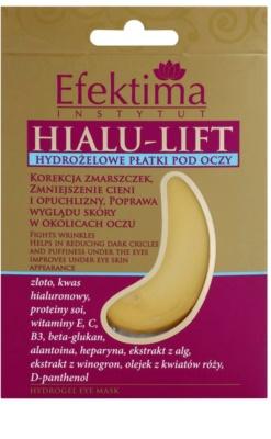 Efektima Institut Hialu-Lift hidrogel maska za predel okoli oči proti gubam in temnim kolobarjem